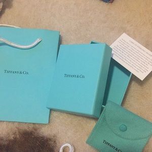 Tiffany & co. box, duster and paper bag